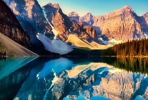 加拿大冰碛湖5天4晚跟团游
